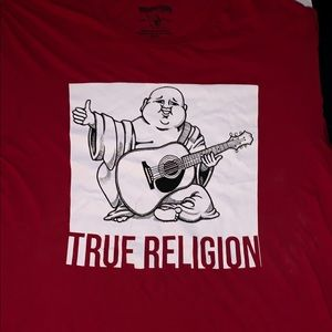 True Religion Men's Size XL Red T-Shirt